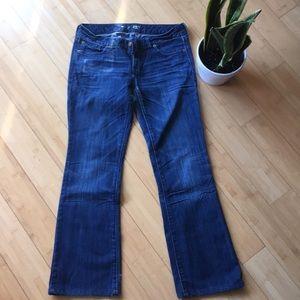 Express bootleg dark wash jeans